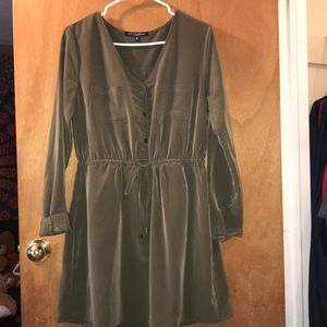 Olive green long sleeved dress